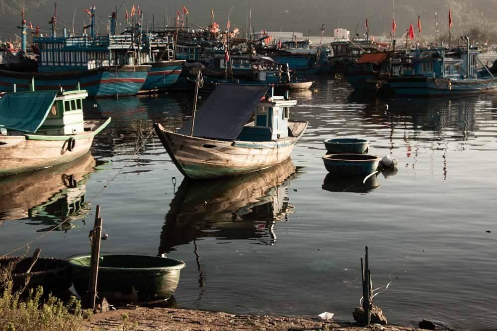 Fishing Boats in Da Nang Vietnam
