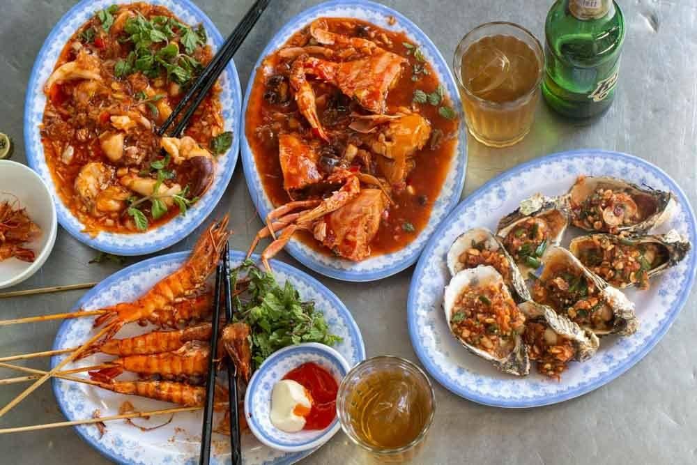 Hai San at Nam Danh Seafood in Da Nang Vietnam