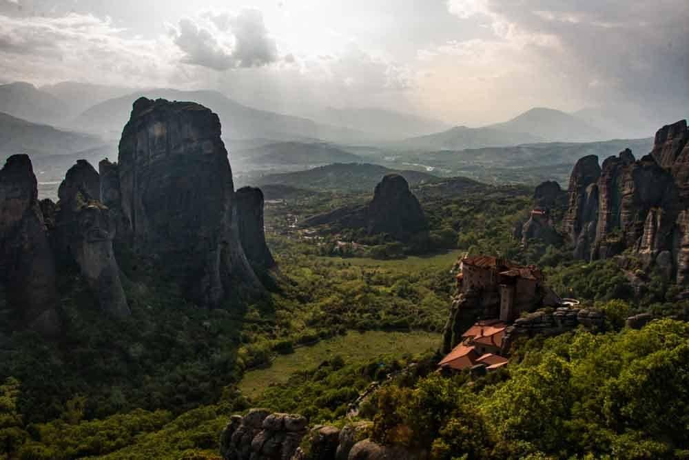 Landscape in Meteora Greece