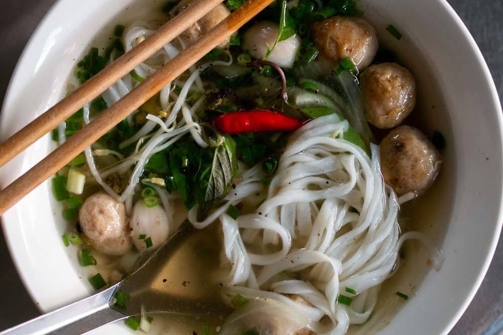 Meatball Pho at Pho 75 in Da Nang Vietnam