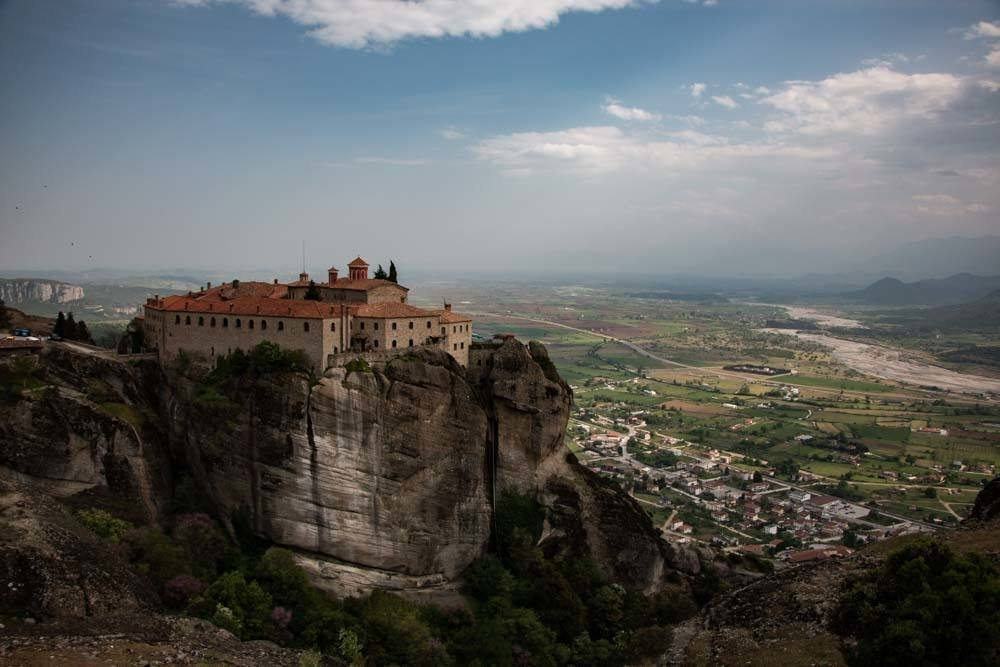 Monastery and View in Meteora Greece