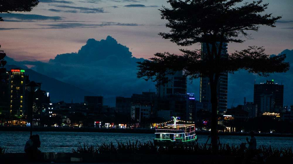 Night in Da Nang Vietnam