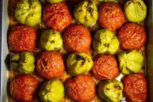 Roasted Tomatoes at Meteora Restaurant in Meteora Greece