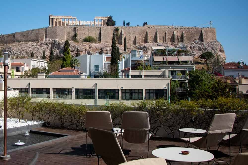 Roof Top View at Herodion Hotel in Athens Greece