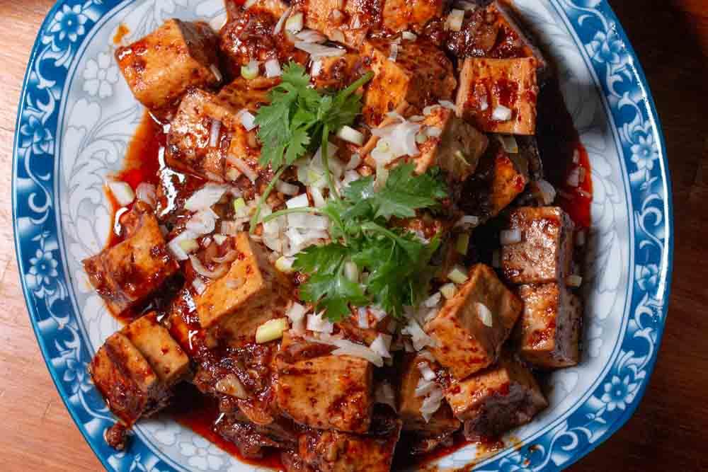 Spicy Tofu at Bao Dai Nhan in Da Nang Vietnam
