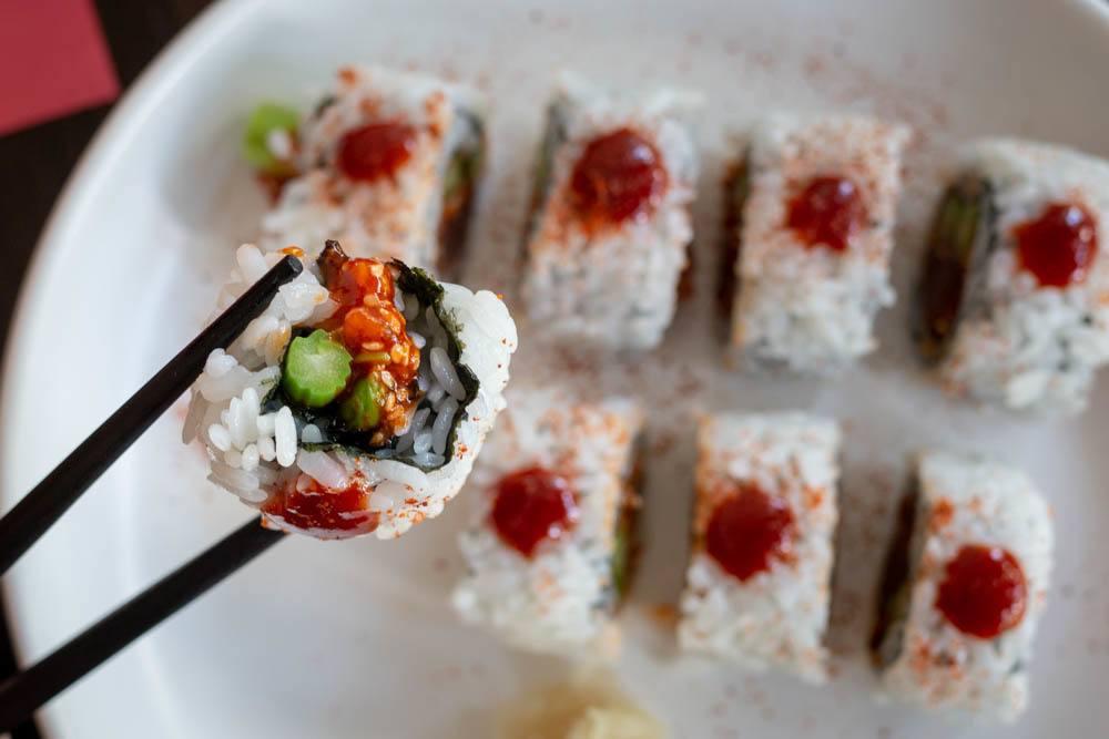 Spicy Tuna Roll at Fish Dance Cafe in Da Nang Vietnam