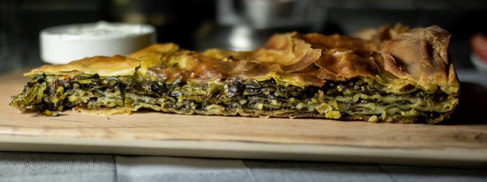 Spinach Pie at Valia Calda in Meteora Greece