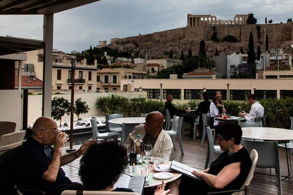View from Herodion Hotel in Athens Greece