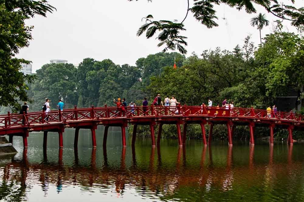 West Lake Bridge in Hanoi