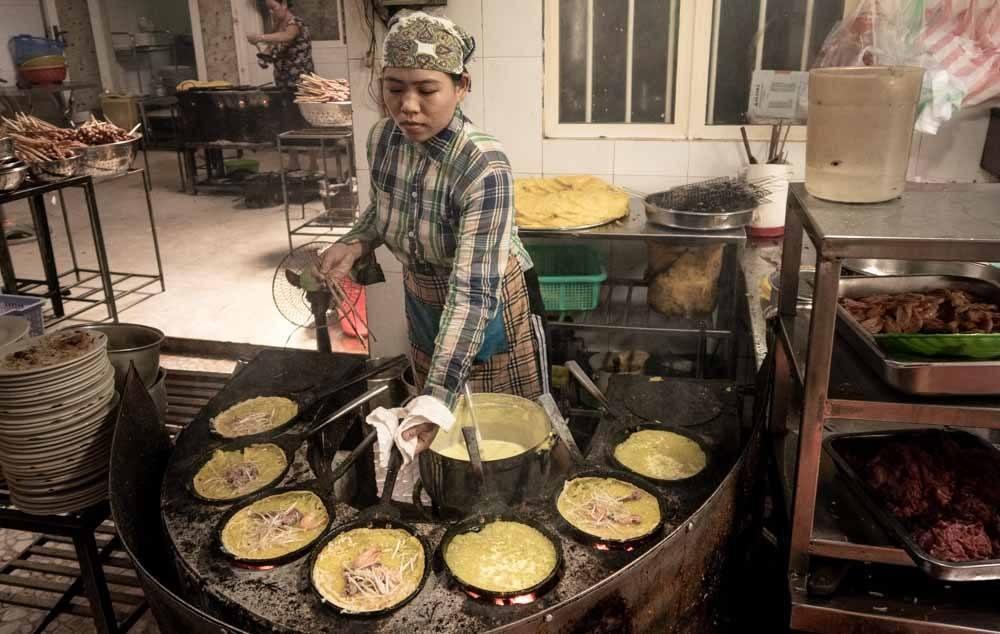 Worker at Ba Duong in Da Nang Vietnam