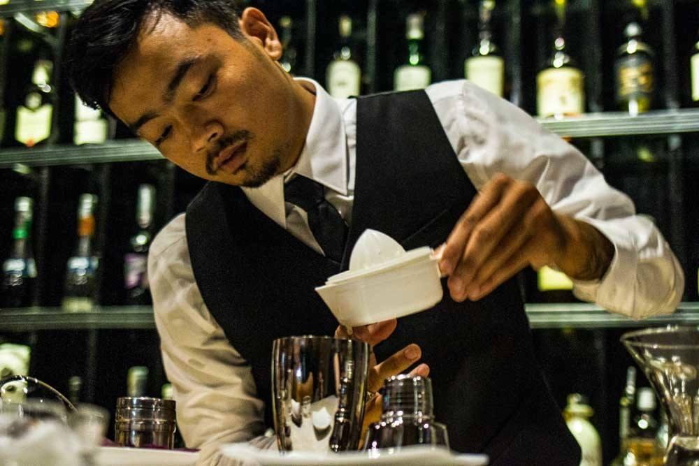 Bartender Tuan Anh Ho in Da Nang Vietnam