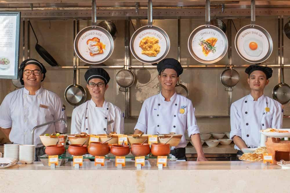 Breakfast Chefs at Novotel Danang Premier Han River Breakfast