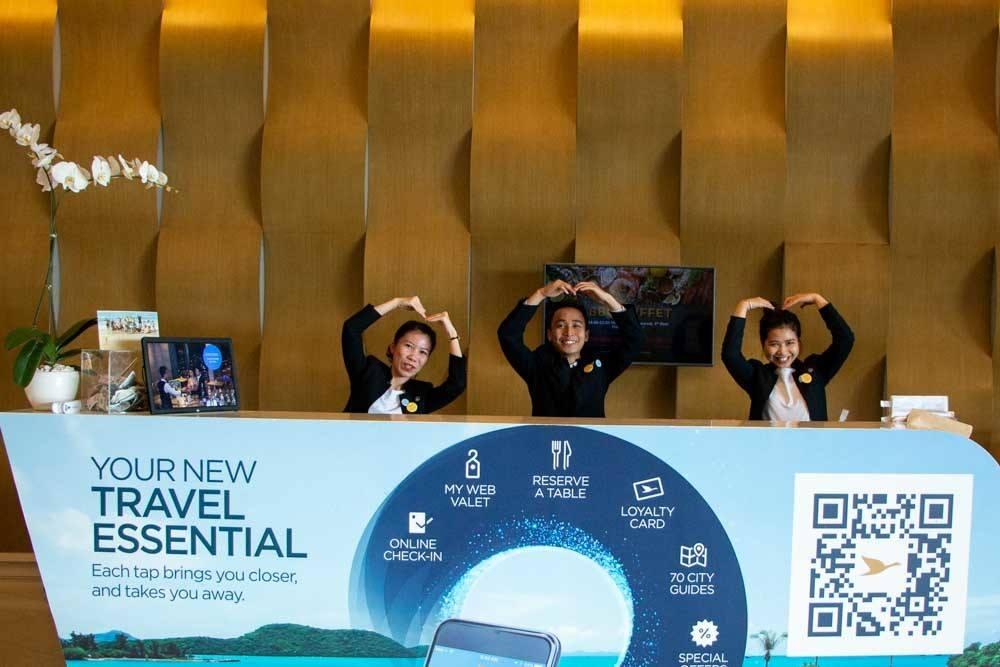 Lobby Attendants at Novotel Danang Premier Han River