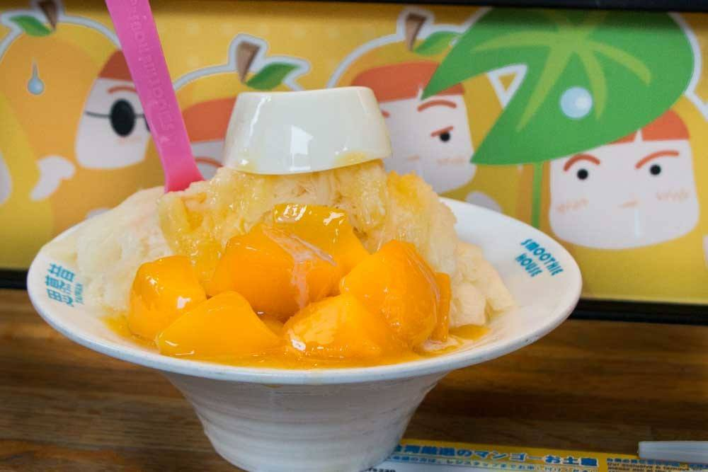 Mango Shave Ice at Smoothie House in Taipei