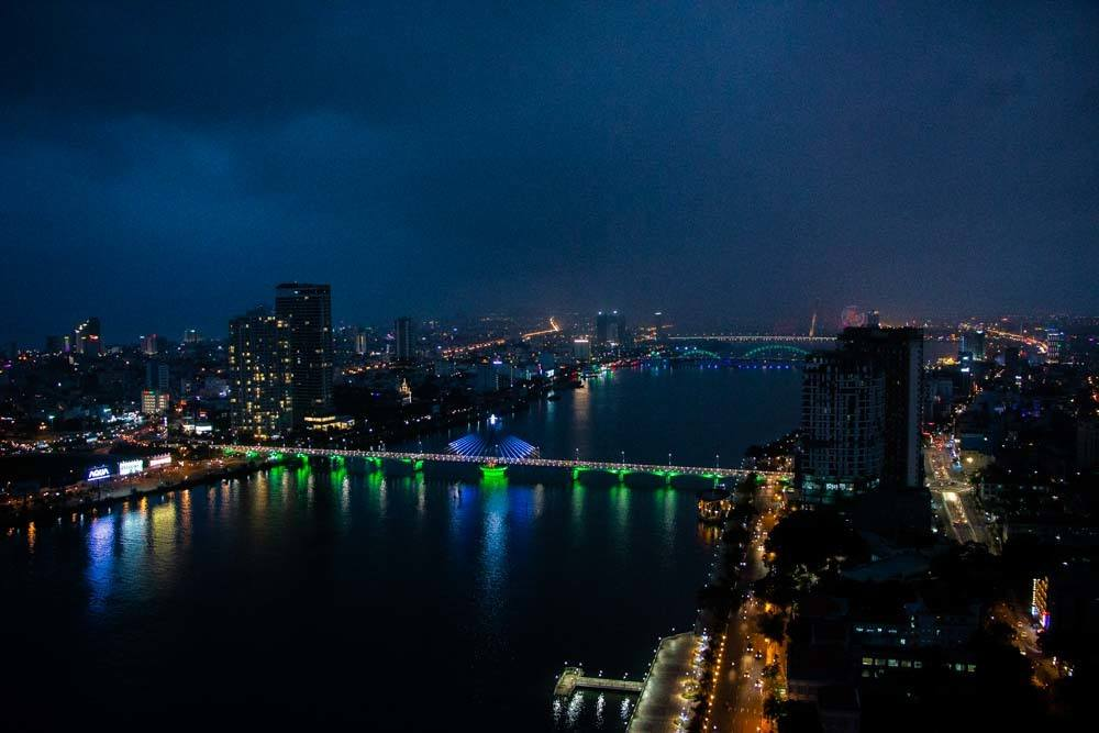 Night Bridges at Novotel Danang Premier Han River