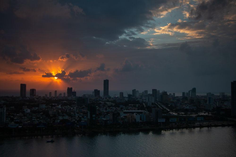 Sunrise at Novotel Danang Premier Han River