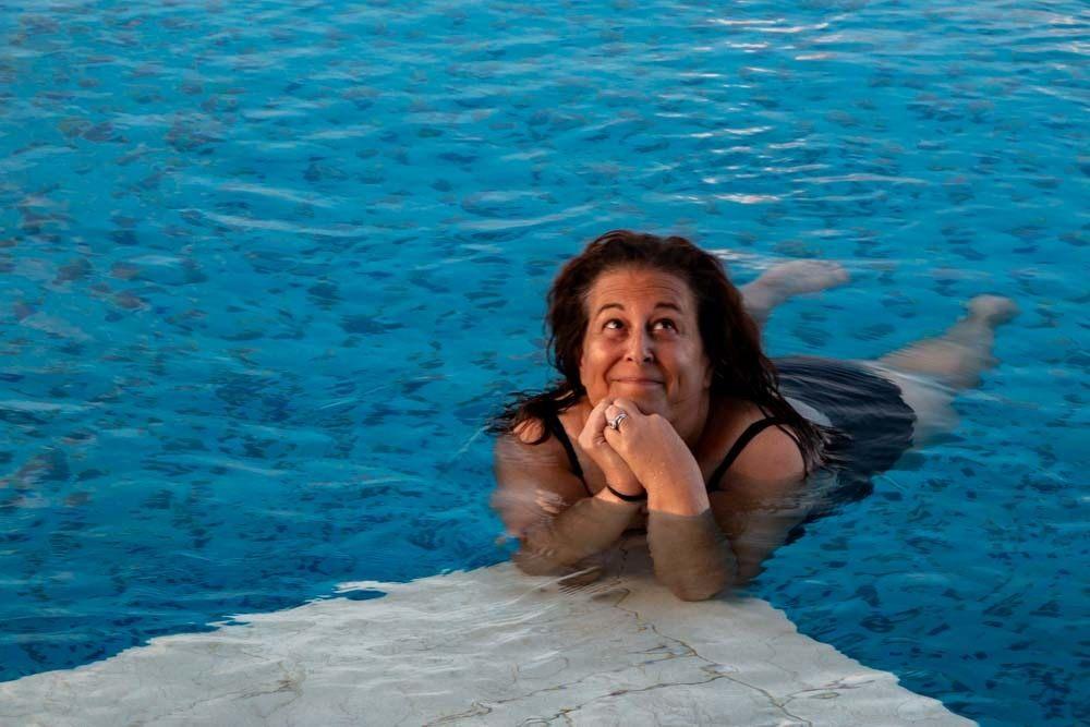 Swimming at Novotel Danang Premier Han River