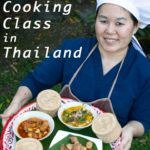 Pinterest image: image of cook with caption 'Take a Chiang Mai Cooking Class in Thailand'