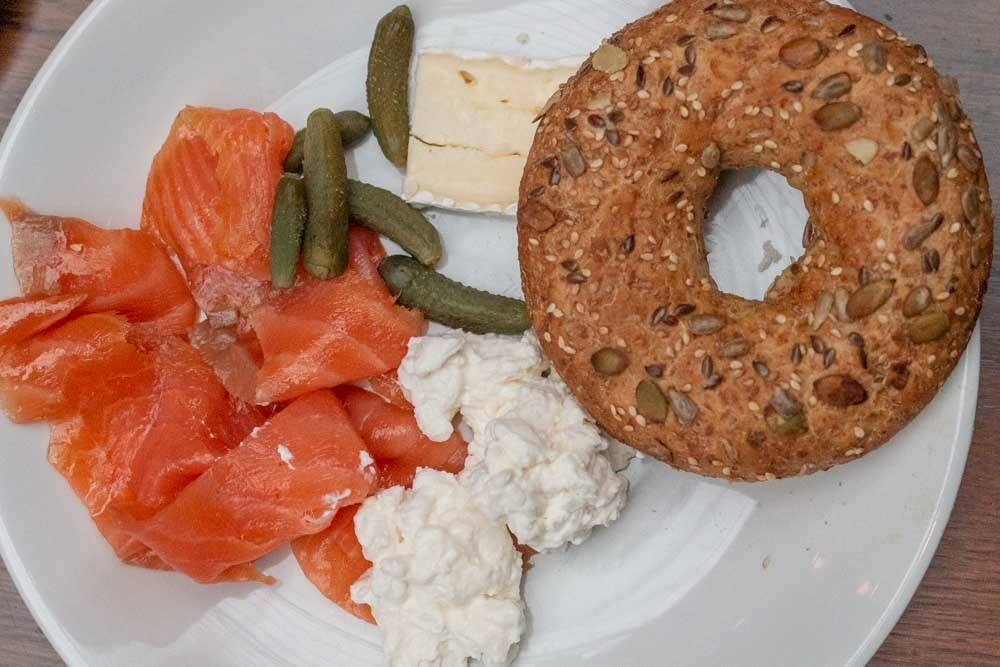 Bagel and Lox at Farimont St. Andrews in Fife Scotland
