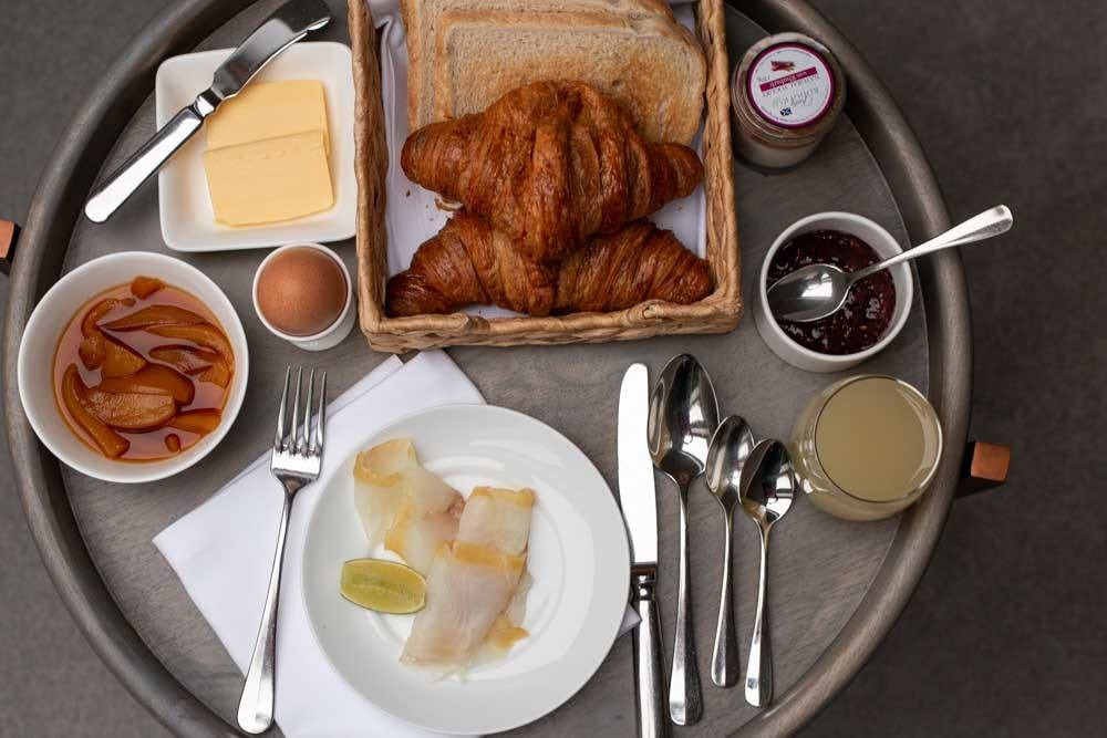 Breakfast at The Peat Inn in Fife Scotland