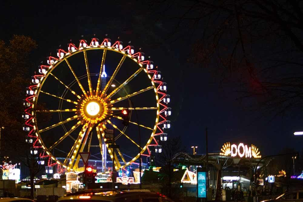 Christmas Market Ferris Wheel in Hamburg Germany