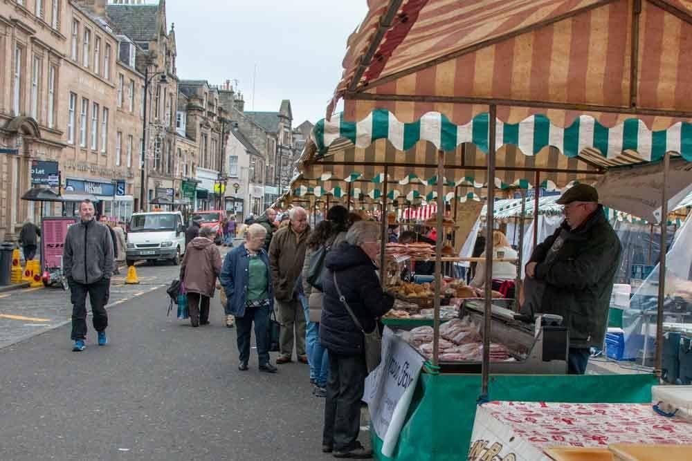 Cupar Farmers Market in Fife Scotland