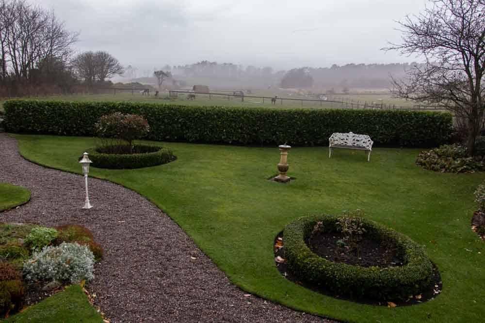 Garden at The Peat Inn in Fife Scotland
