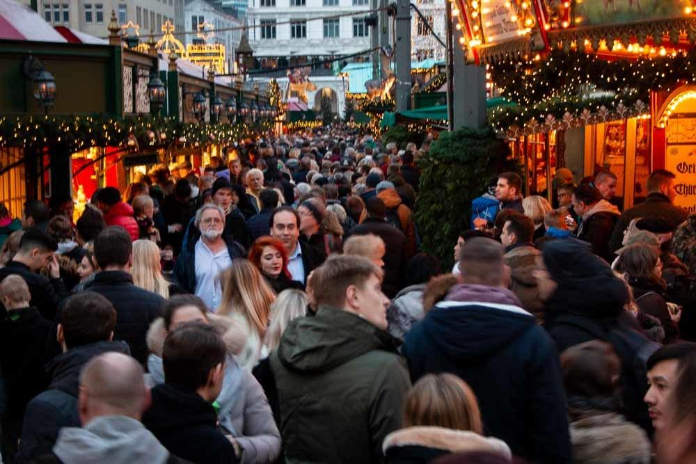 Hamburg Christmas Market Crowd