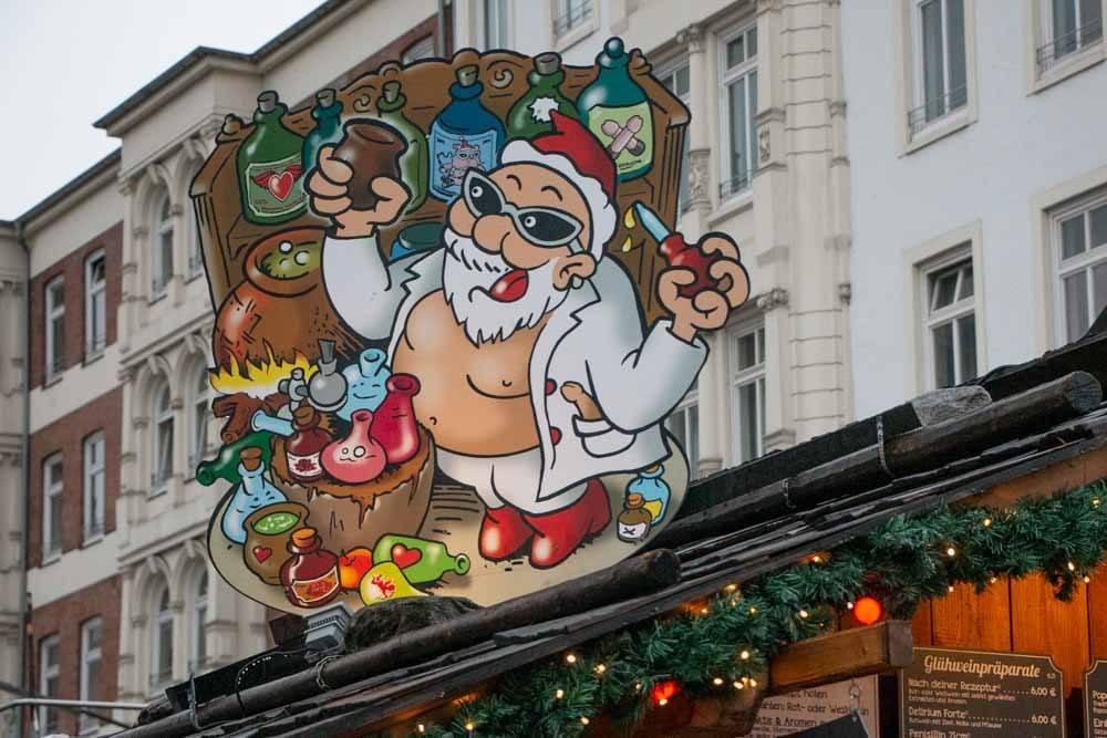Santa Pauli Christmas Market in Hamburg