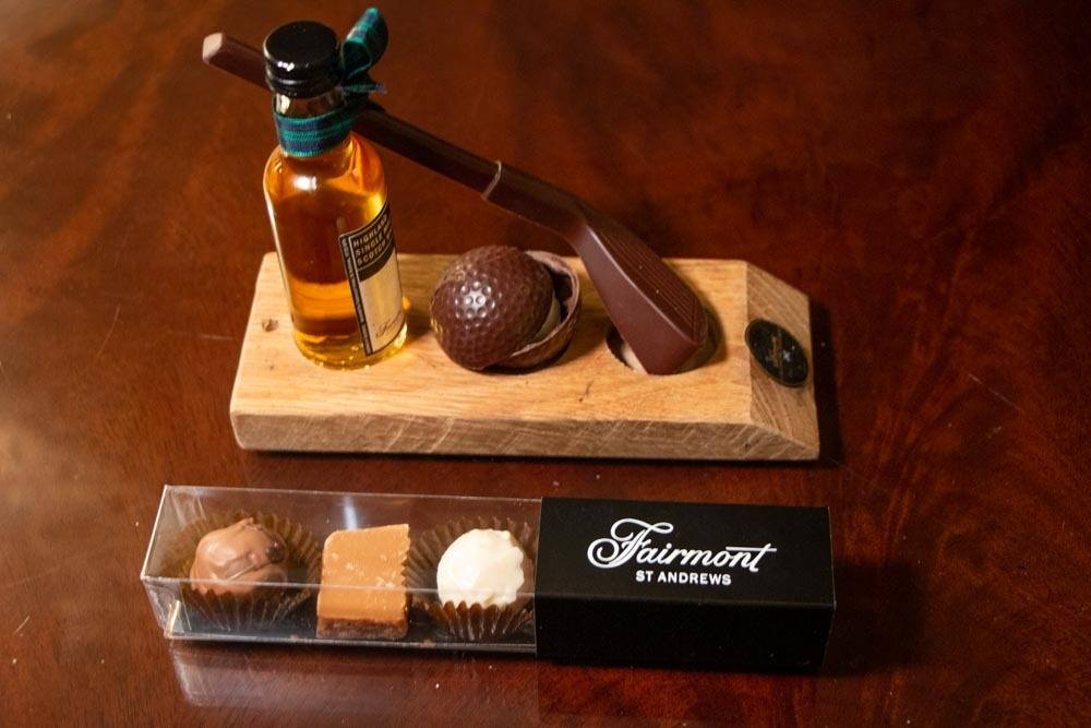 Welcome Chocolates at Fairmont St. Andrews in Fife Scotland