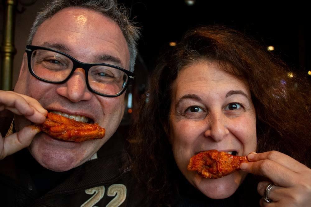 2foodtrippers Eat Wings in Buffalo