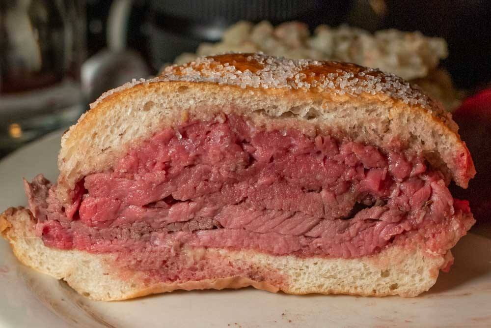 Beef on Weck at Schwabl's in Buffalo