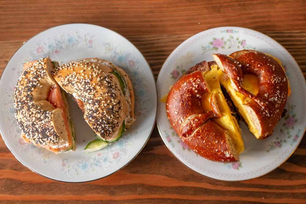 Breakfast Sandwiches at BreadHive Bakery & Cafe in Buffalo
