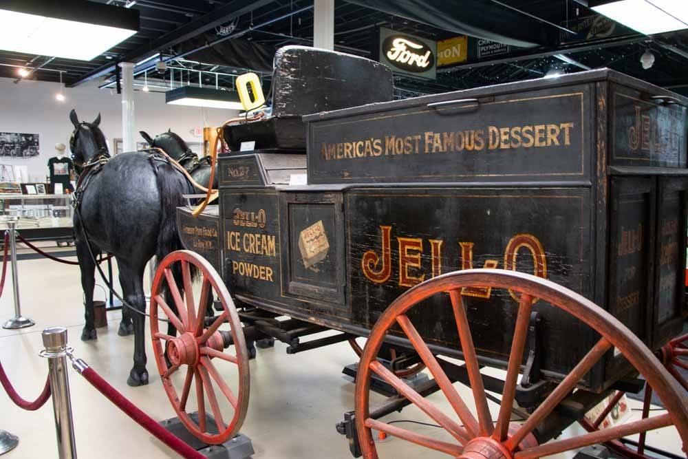Jell-O Wagon at Pierce Arrow Museum in Buffalo