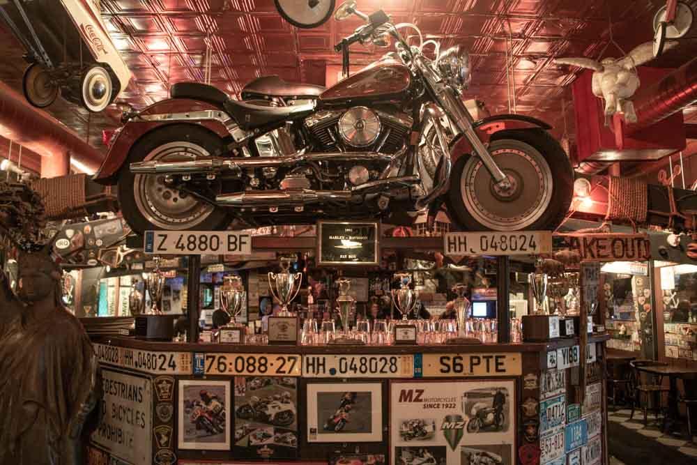 Motorcycle at Anchor Bar in Buffalo