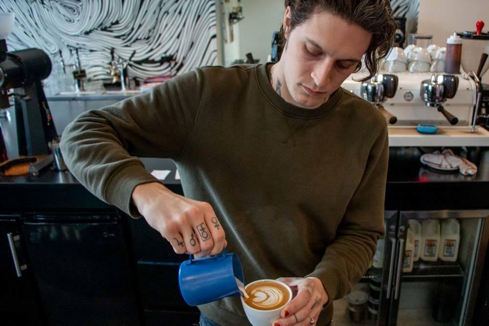 Tim Zdrojewski at Public Espresso and Coffee in Buffalo