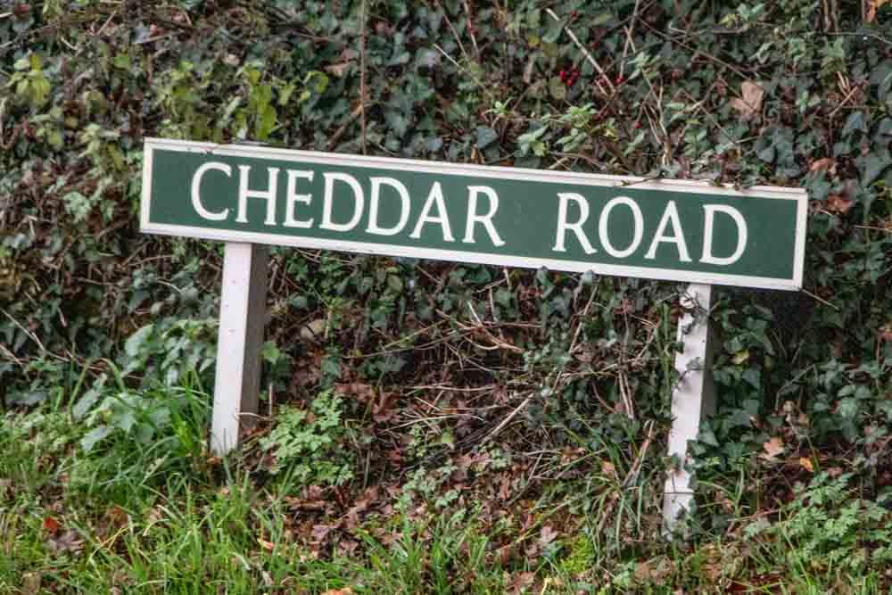 Cheddar Road Sign at Cheddar Gorge