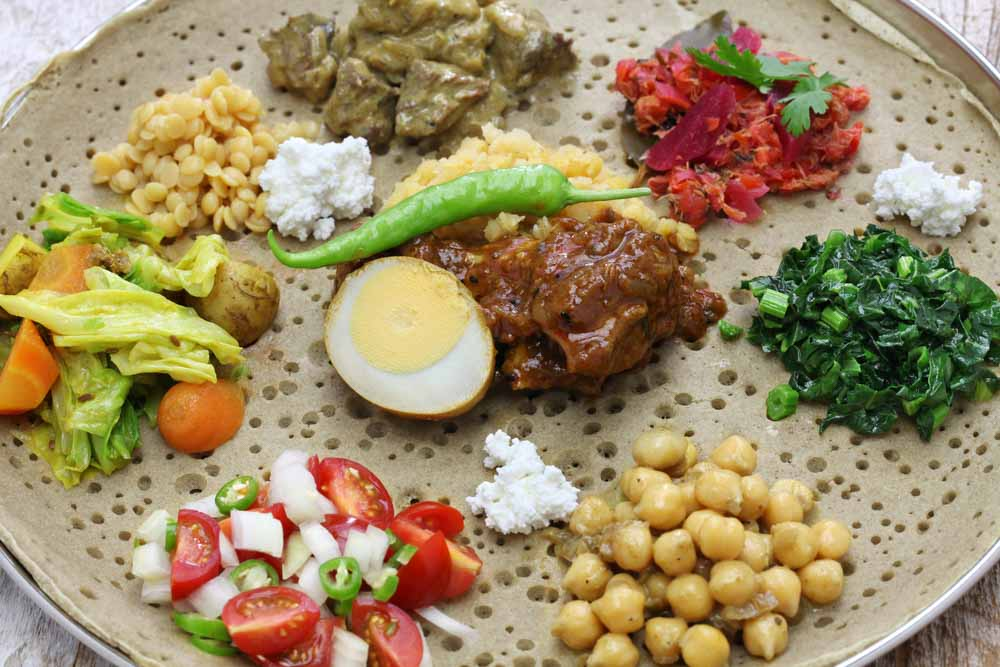 Ethiopian Food - Mixed Plate