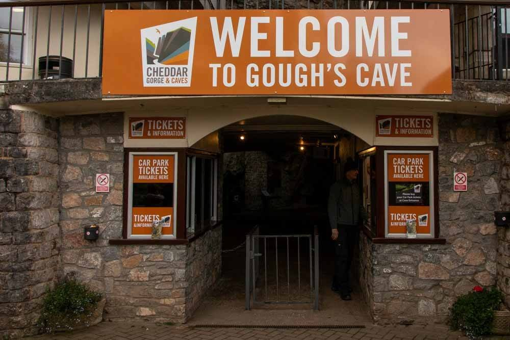 Goughs Cave Entrance at Cheddar Gorge