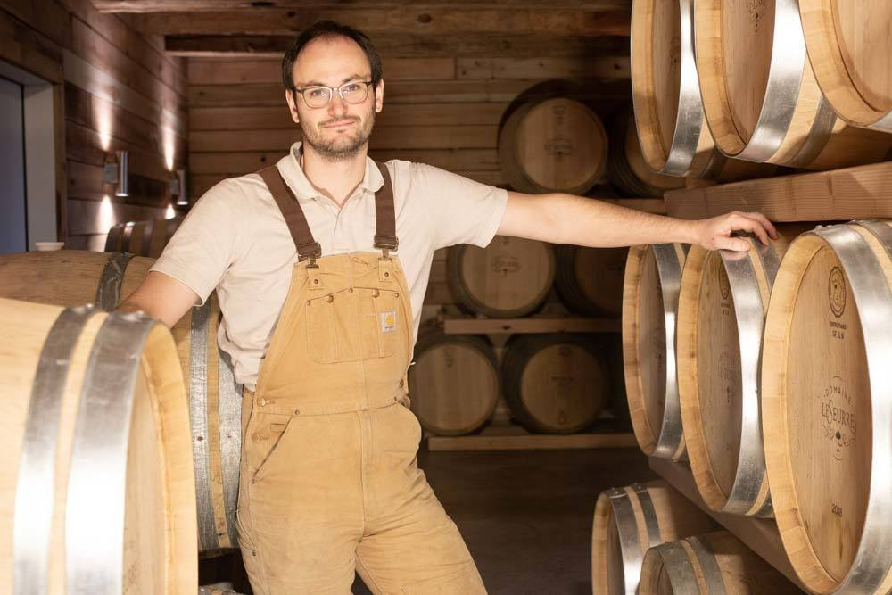 Sébastien Lesurre at Domaine Lesurre on the Finger Lakes Wine Trail