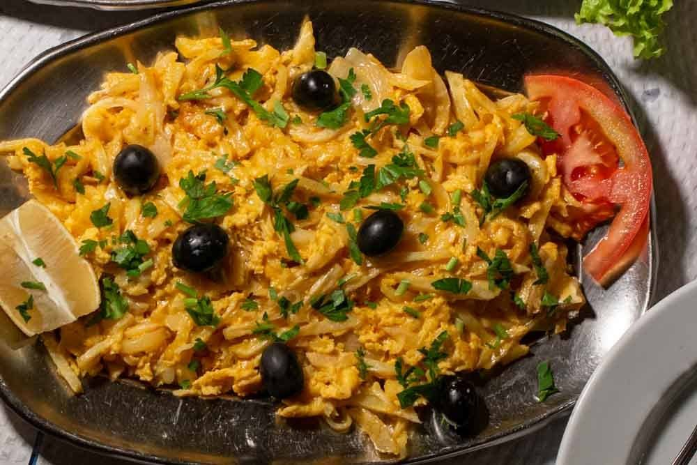 What to eat in Lisbon - Bacalhau a Bras