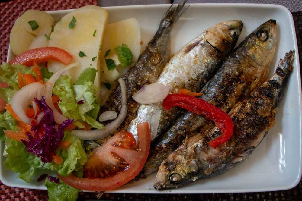 What to eat in Lisbon - Grilled Sardines
