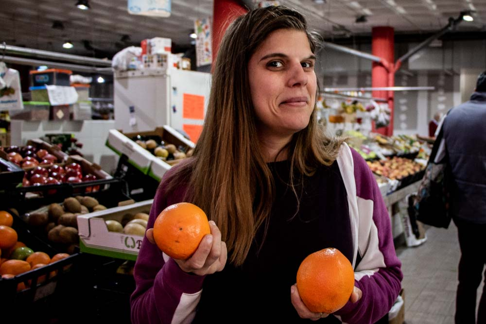 Ana Vicoso with Oranges in Lisbon Market