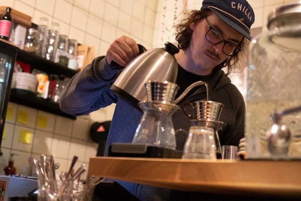 Barista at Playground Coffee in Hamburg Germany