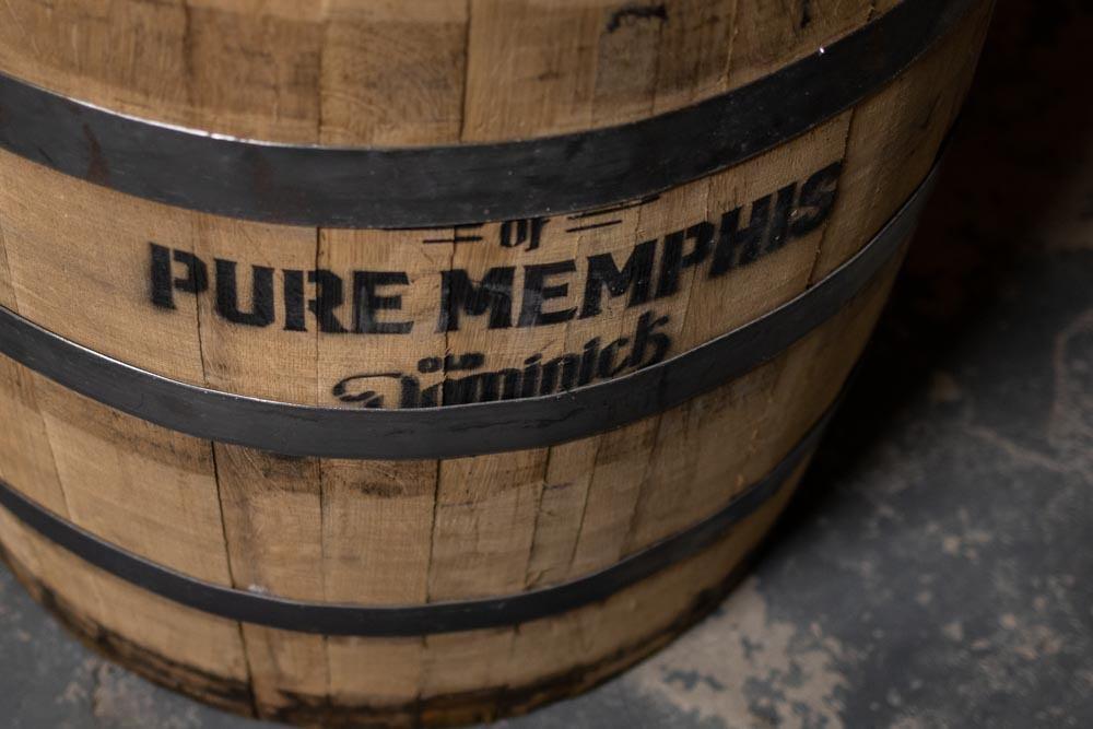 Barrel at Old Dominick Distillery in Memphis