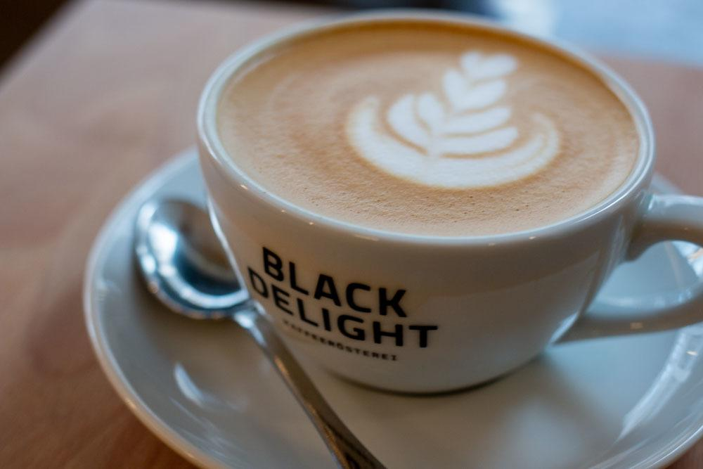 Cappuccino at Black Delight in Hamburg Germany