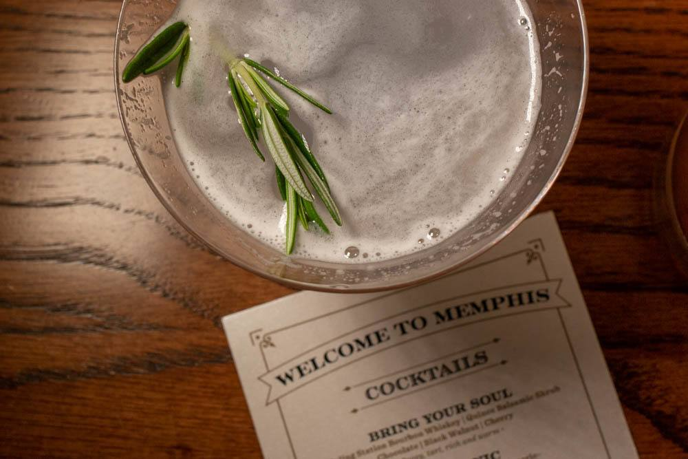 Cocktail at Old Dominick Distillery in Memphis