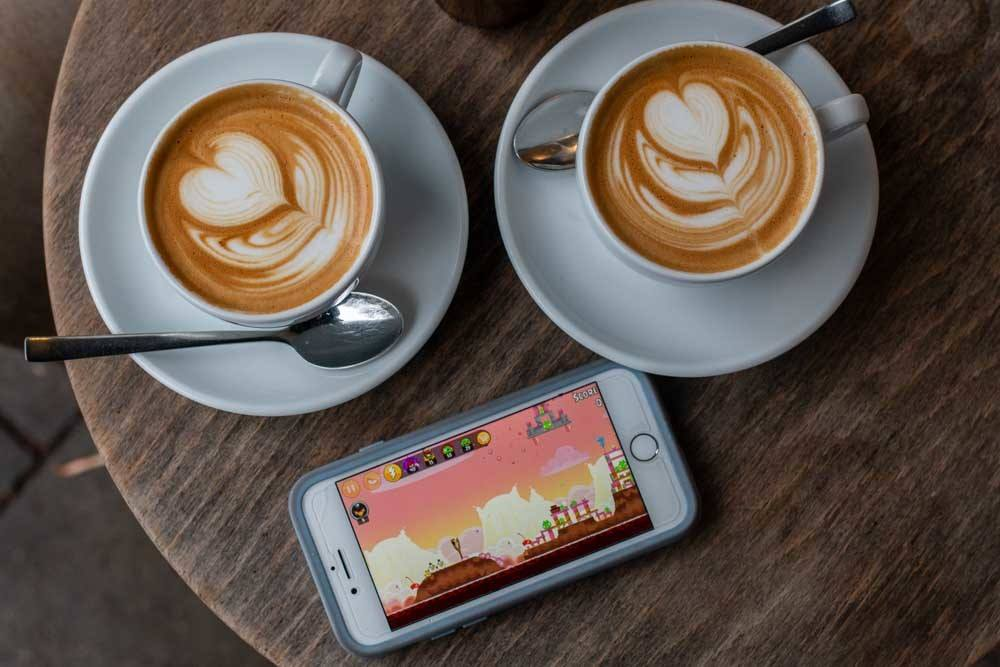 Coffee at Balz und Balz in Hamburg Germany