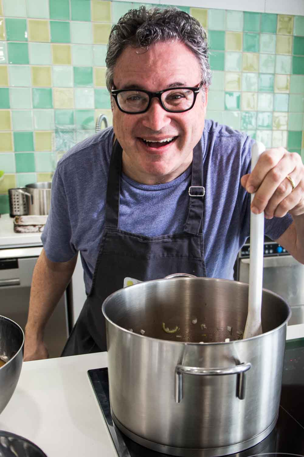 Daryl Stirs the Pot at Lisbon Cooking Academy