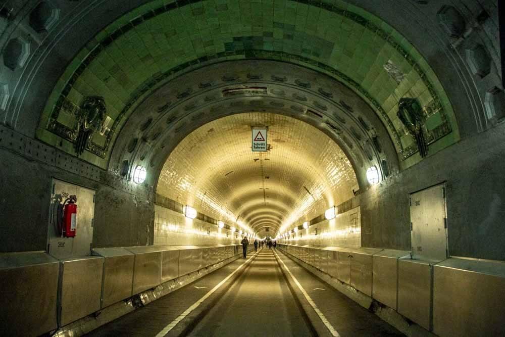 Elbe Tunnel in Hamburg Germany